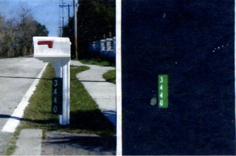 911 Reflective Address Signs mounted on mailboxes